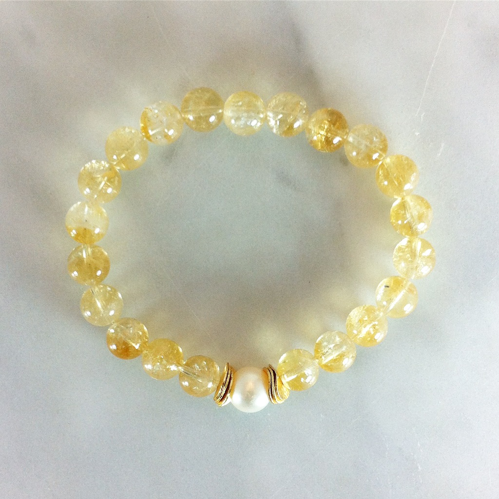 21 citrine mala beads in honor of Lakshmi