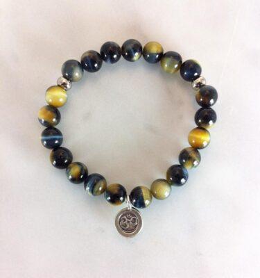 blue tiger eye mala beads