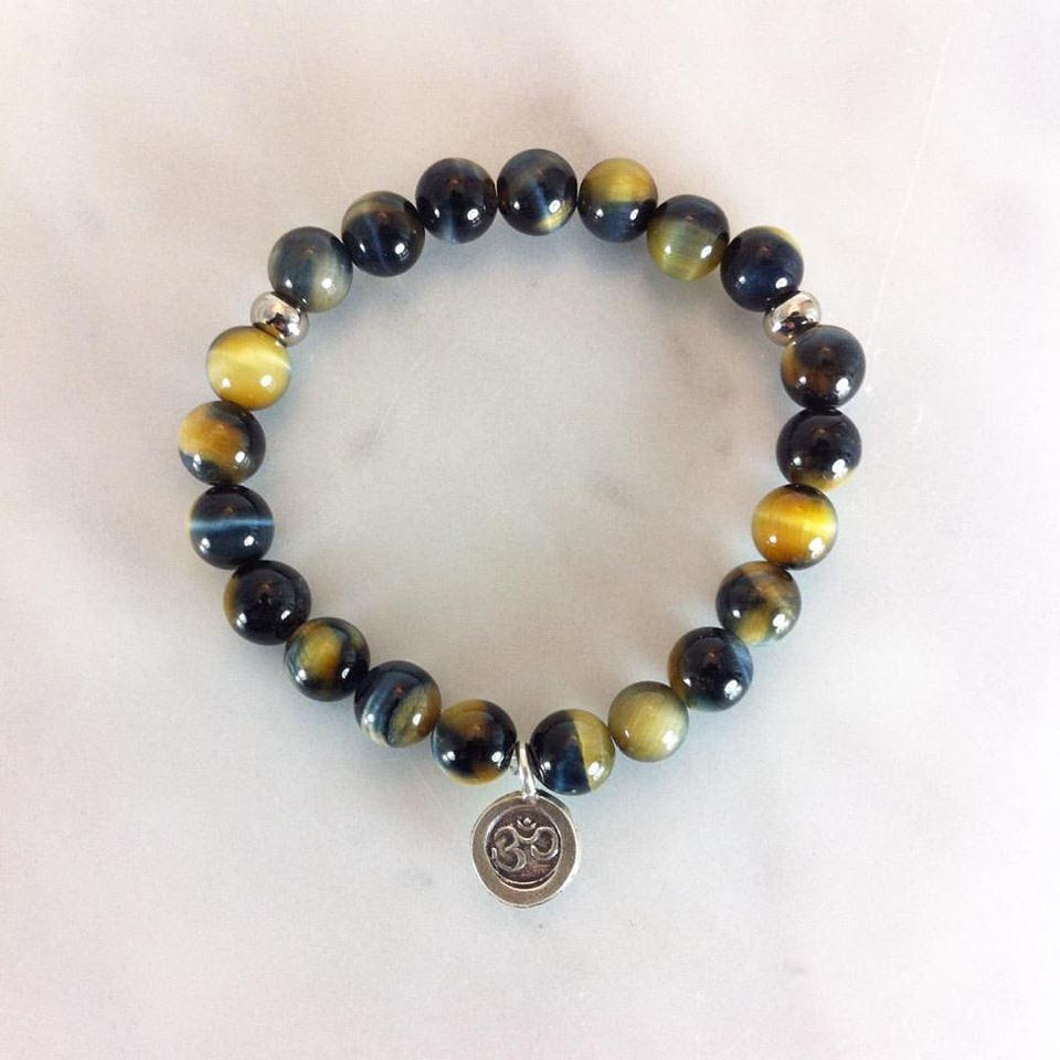 Blue Tiger eye mala bracelet for balance, vitality, and wellness.