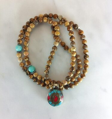 picture jasper mala beads