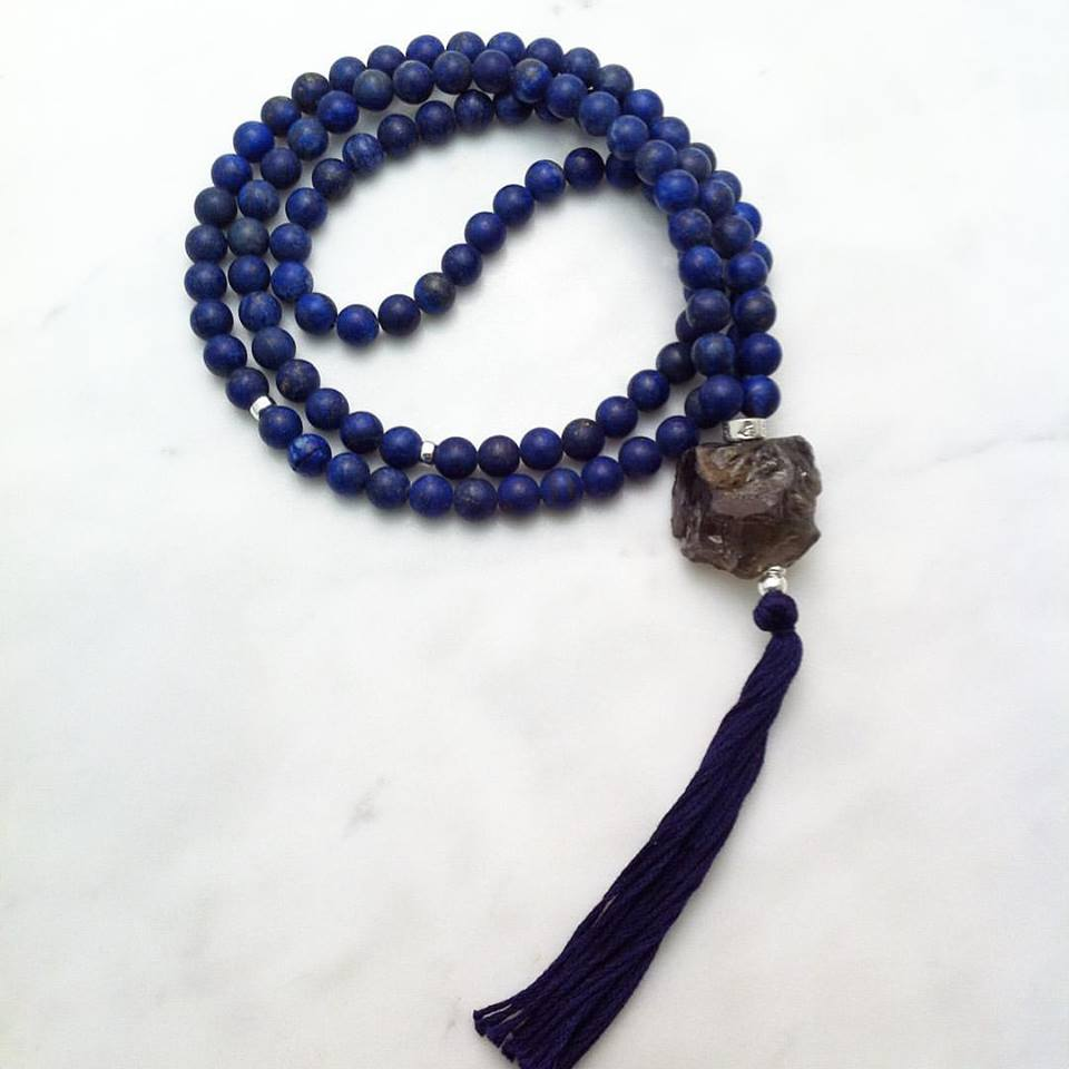 Mala Beads Lapis Lazuli - New Beginnings Mala for Yoga and Meditation