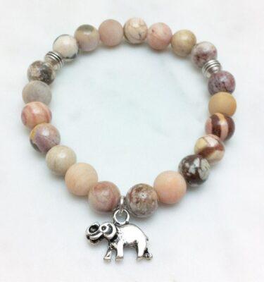 sunstone mala bracelet