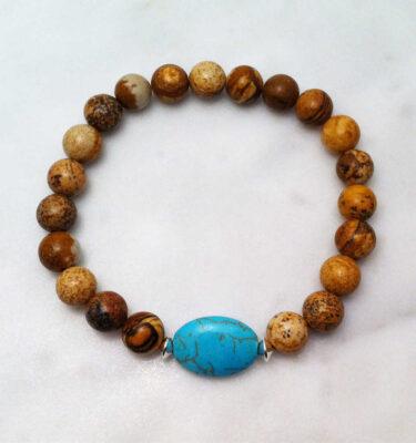 picture jasper mala bracelet