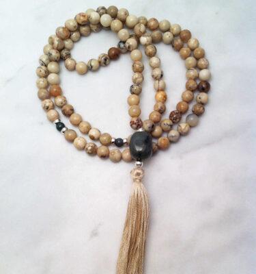opal mala beads