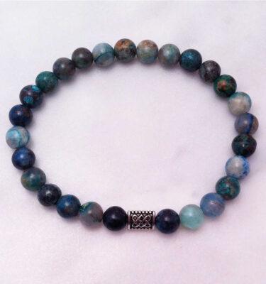 chrysocolla mala bracelet