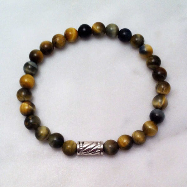 blue tiger eye mala bracelet