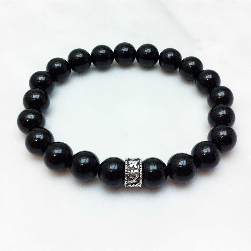 black onyx mala bracelet