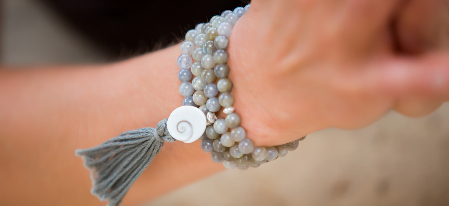 labdradorite mala beads