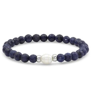 sapphire mala bracelet
